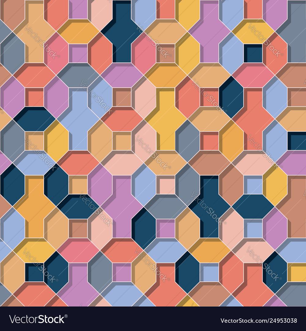 Multicolor flat 3d geometrical background