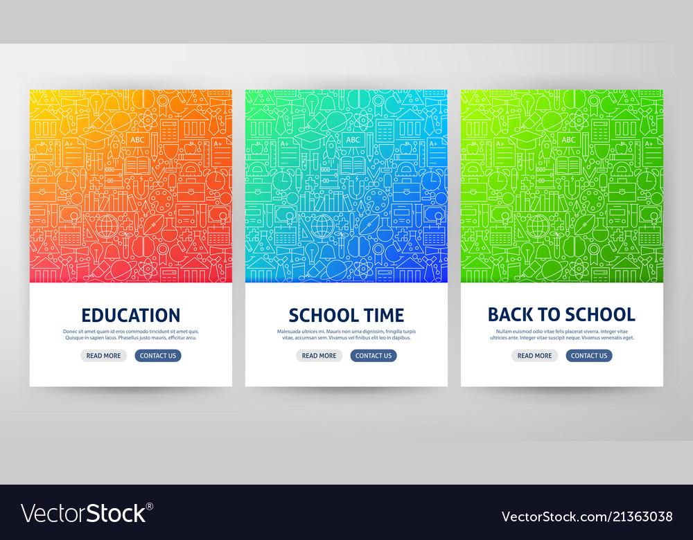 School flyer concepts