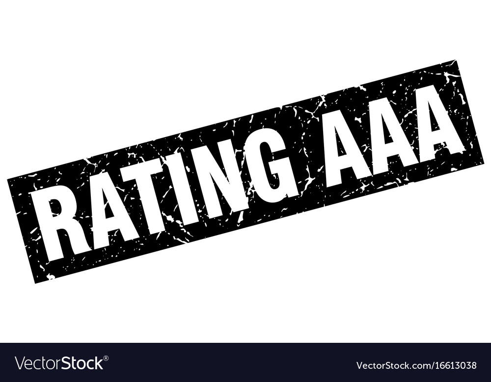 Square grunge black rating aaa stamp vector image