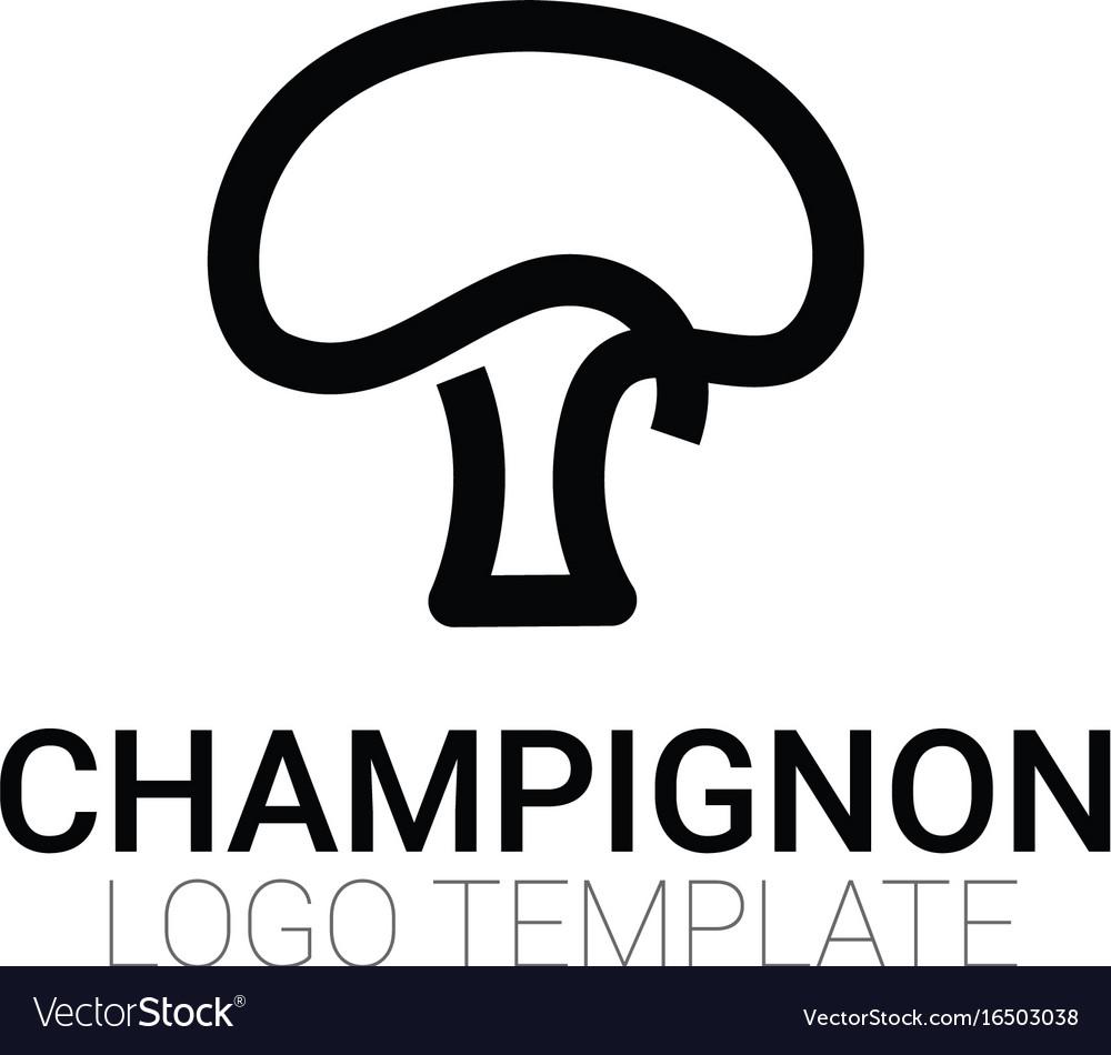 stylish mushroom symbol or logo template vector image
