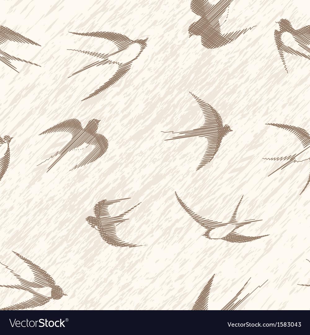 Bird swallow seamless
