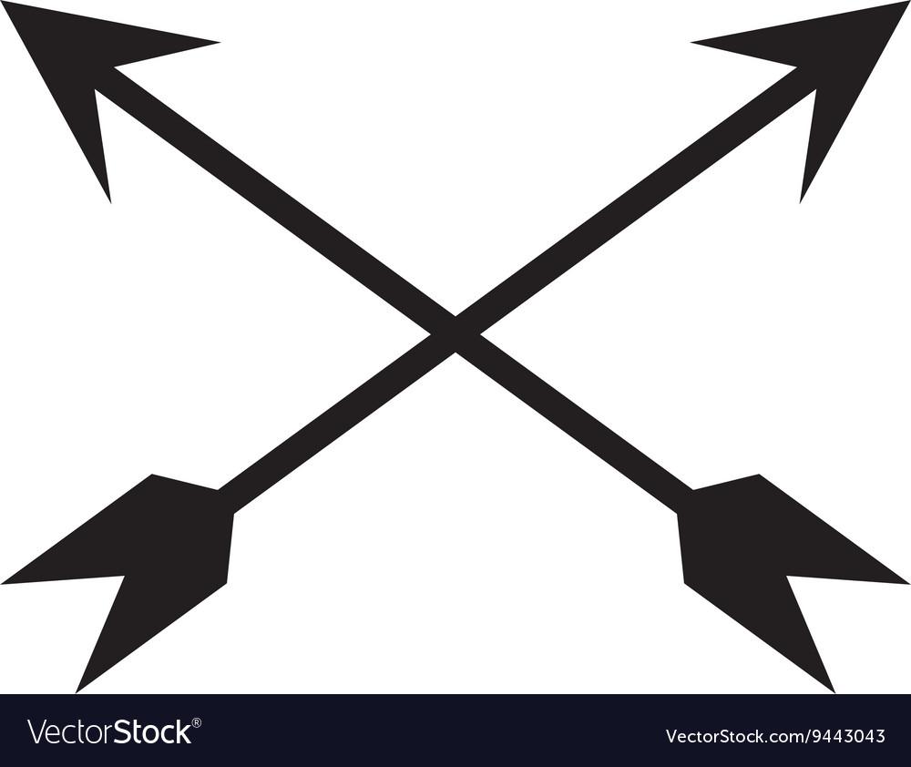 Black Crossed Arrows Royalty Free Vector Image