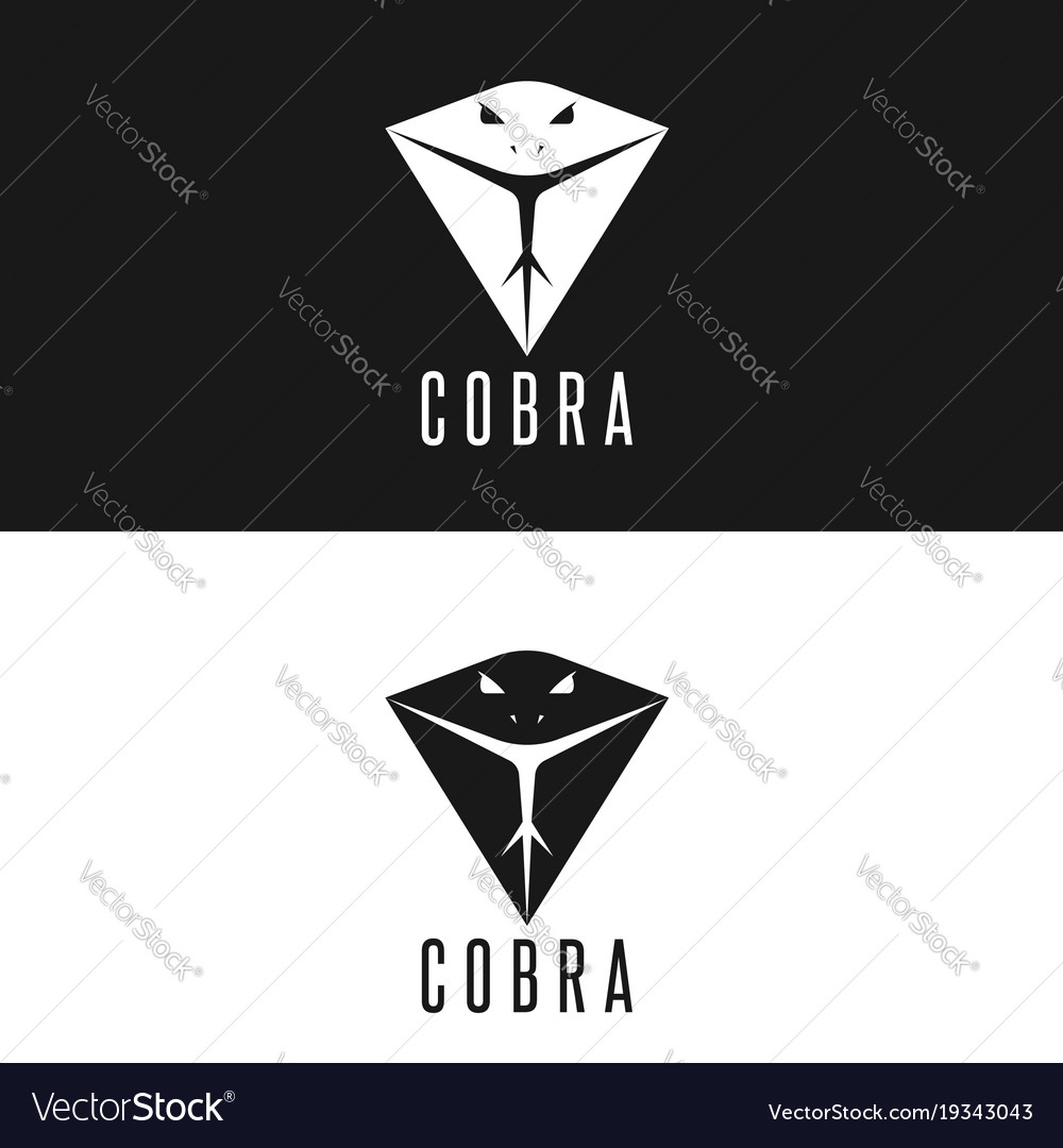 Cobra logo head snake with tongue out modern