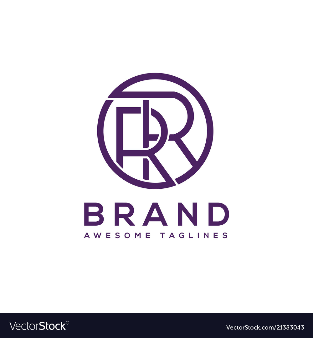 Creative letter rr circle logo design elements