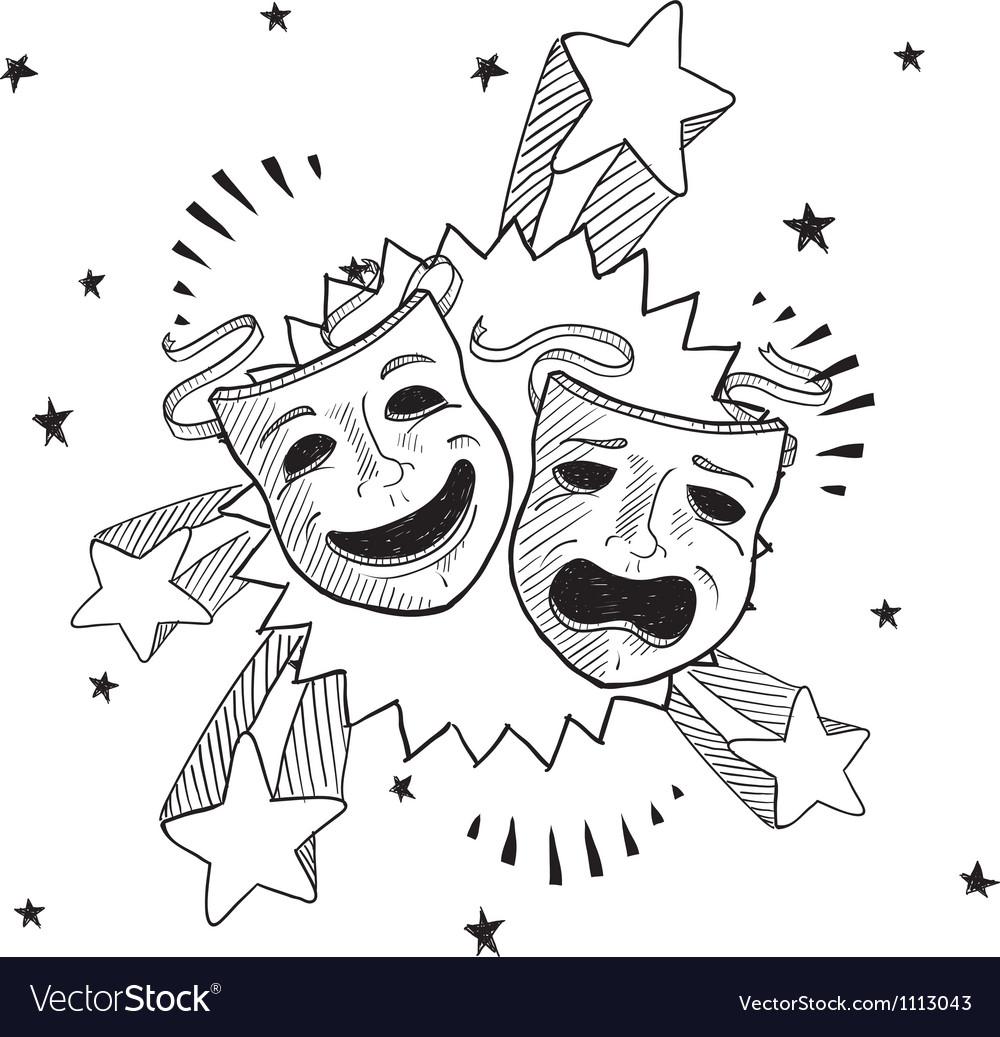Doodle pop drama masks