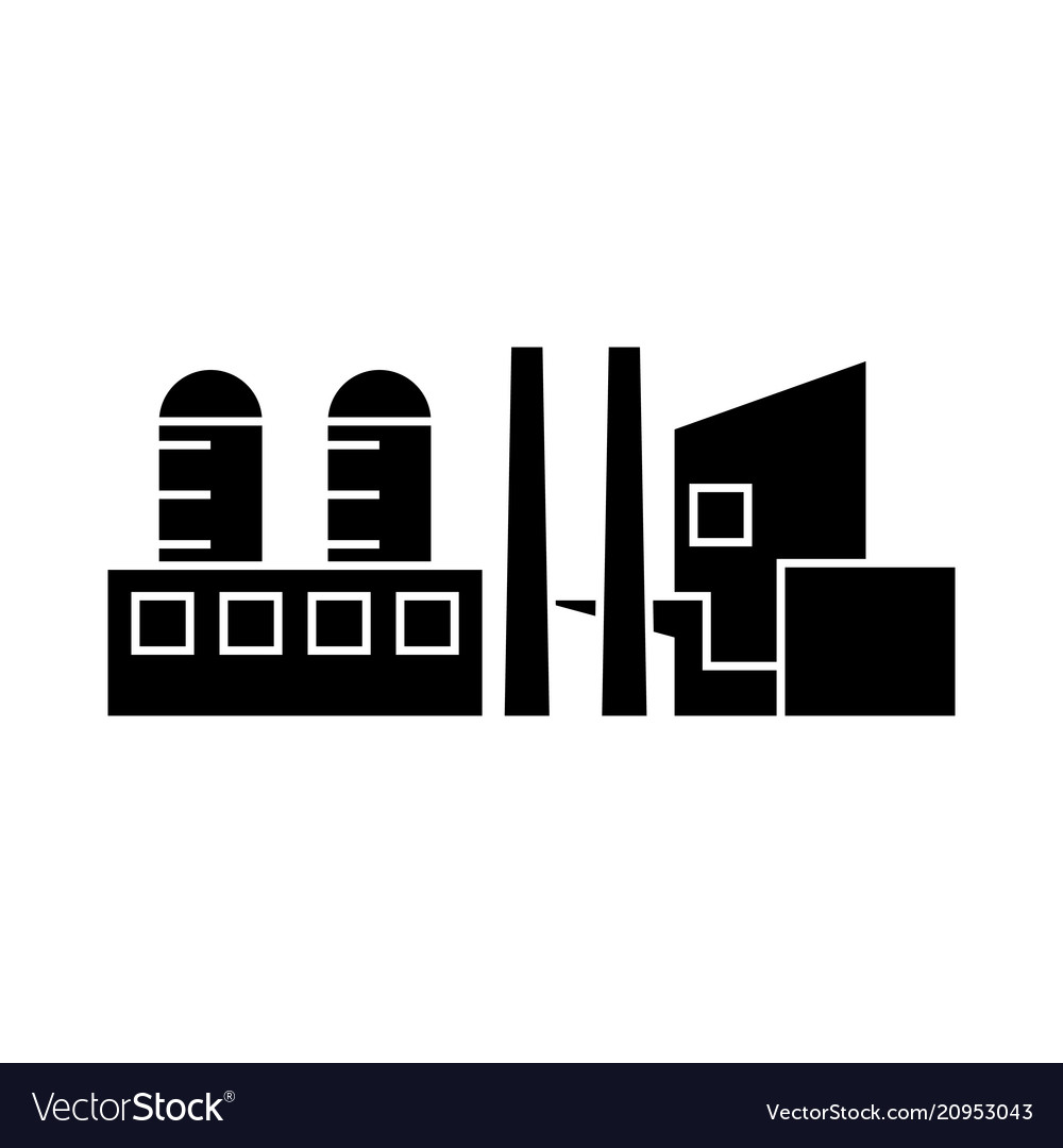 Industrial building black icon concept industrial