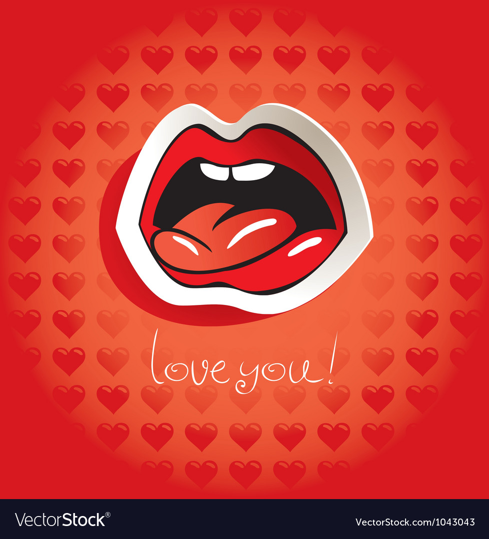 Love language vector image
