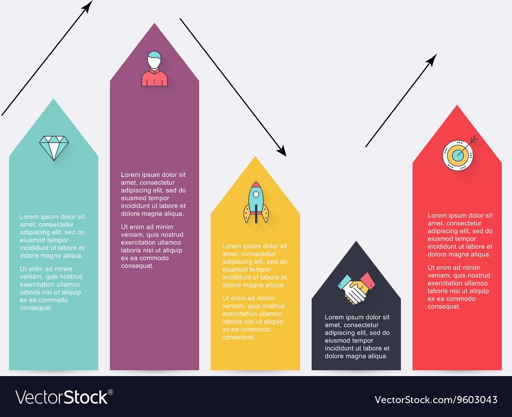 Modern arrow info graphics element Infographics