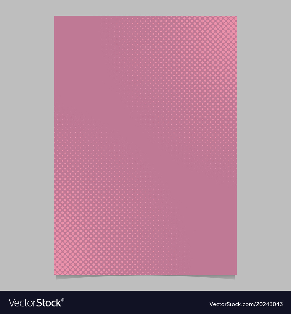Pink abstract halftone dot pattern page template