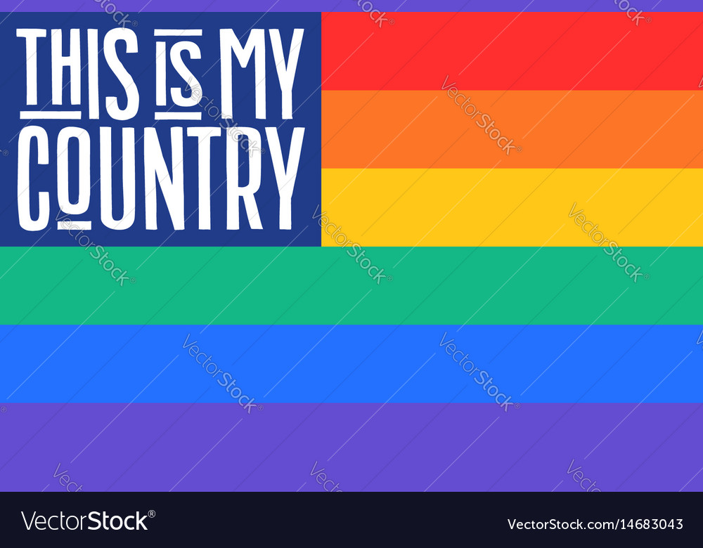 Poster of rainbow united states of america flag vector image
