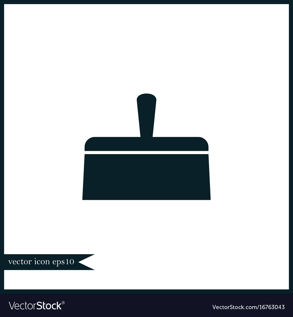 Putty knife icon simple