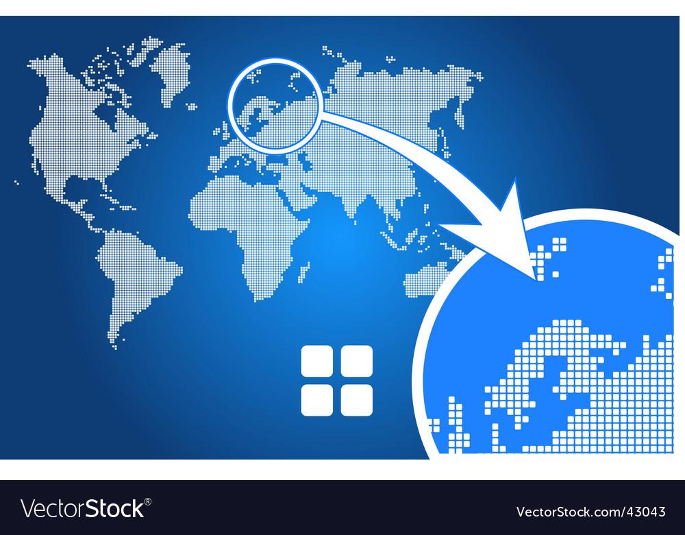 Stylish world map square