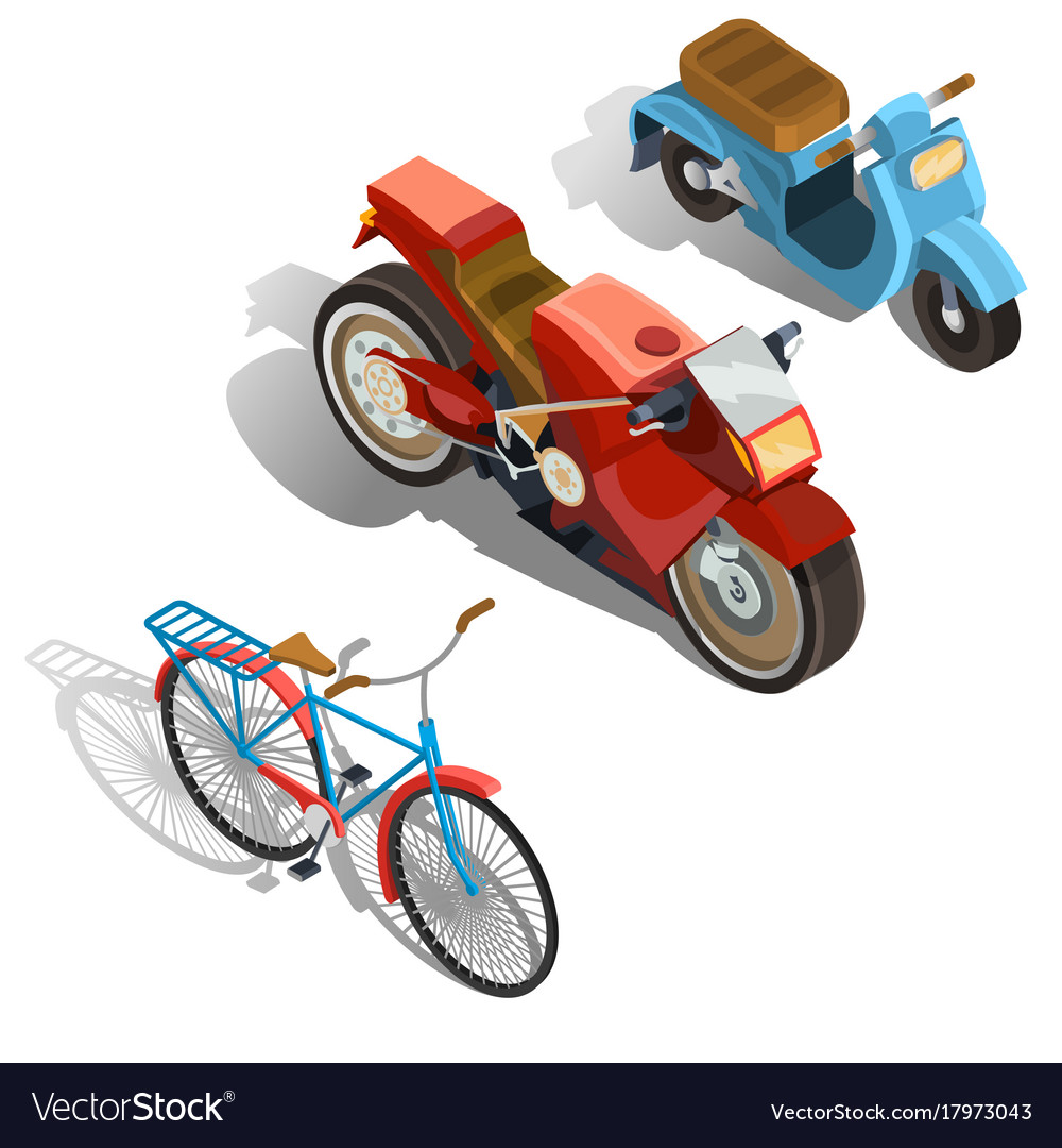 Two-wheeled transport isometric set