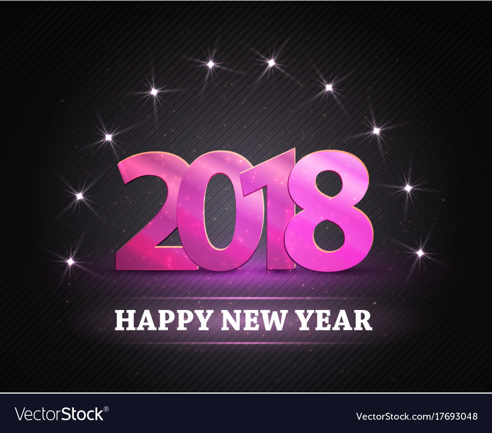2018 new year count symbol with stars