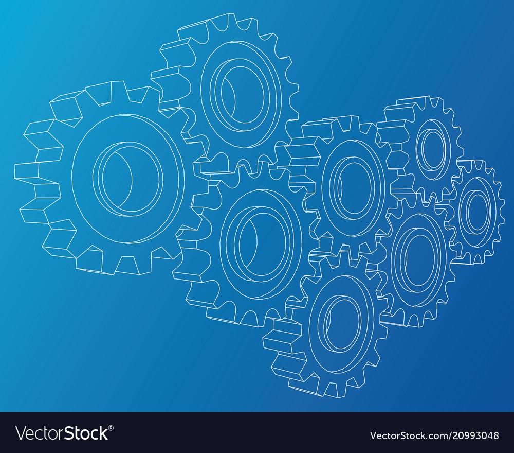 Background industrial design gears conceptual 3d