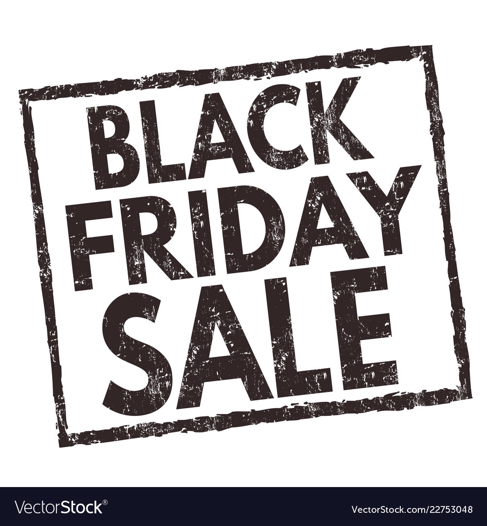 Black friday sale sign or stamp