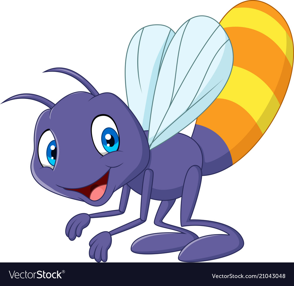 Cartoon funny firefly