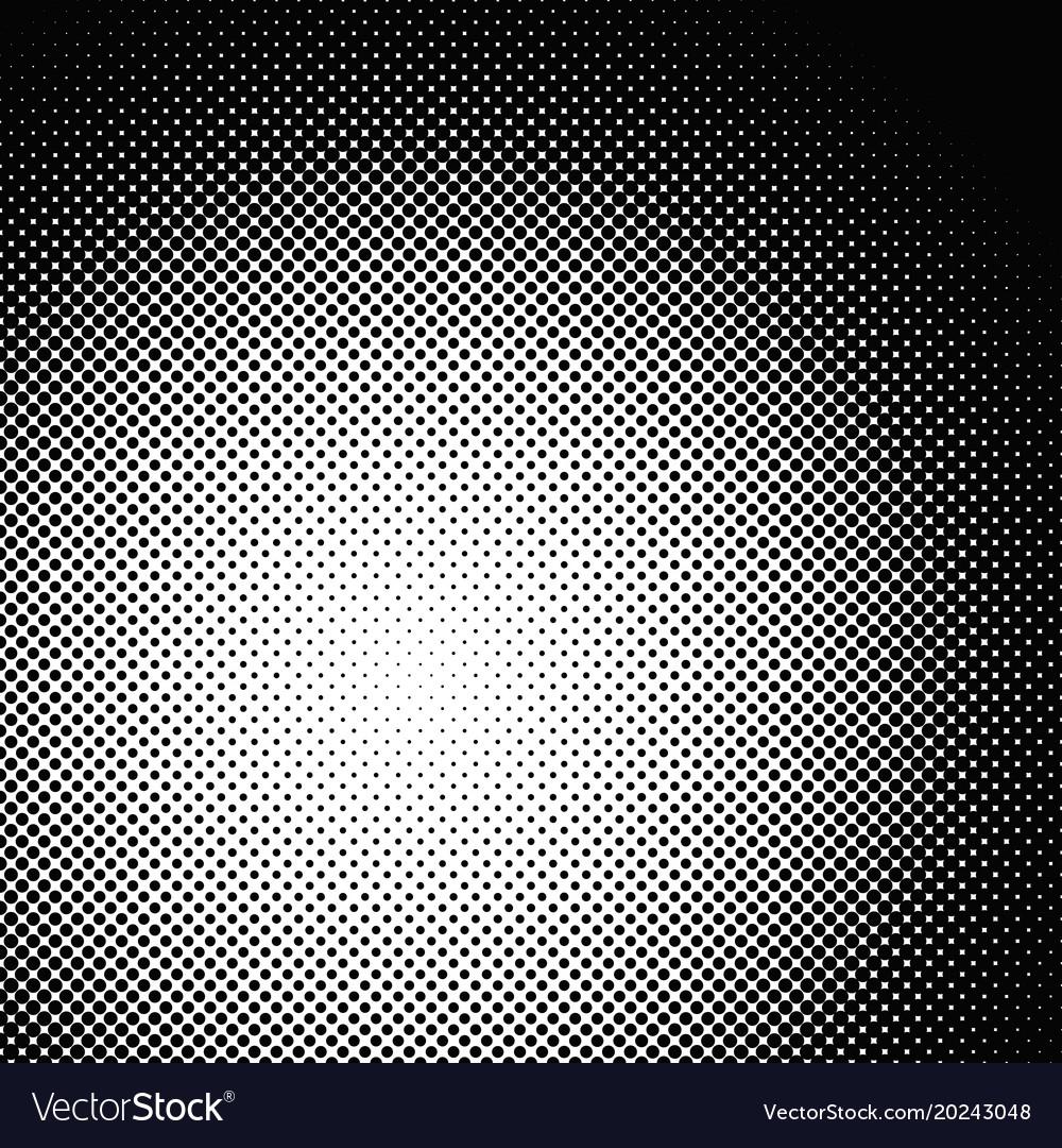 Geometrical halftone dot pattern background