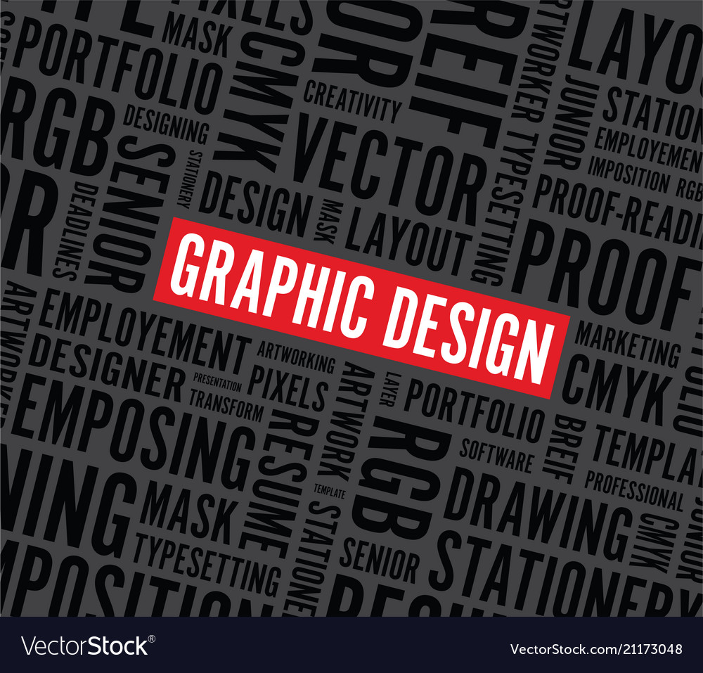 Graphic design word background