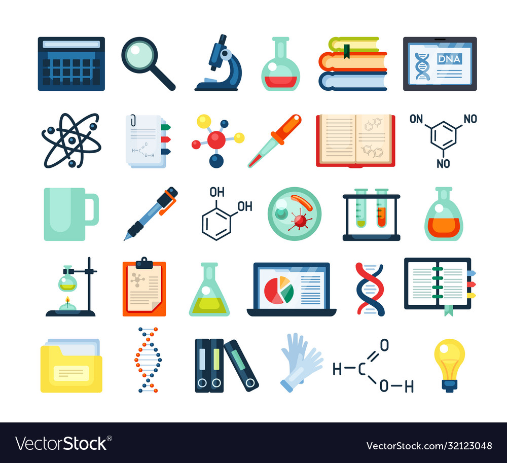Scientific research inventory set electron