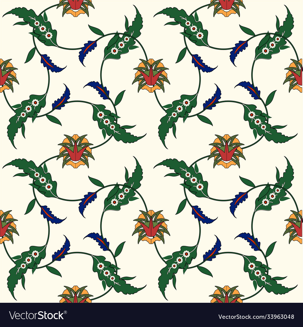 Seamless ethnic ornament floral background