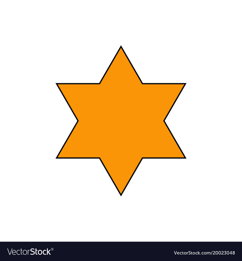 Star Of David Symbol Of Judaism Royalty Free Vector Image