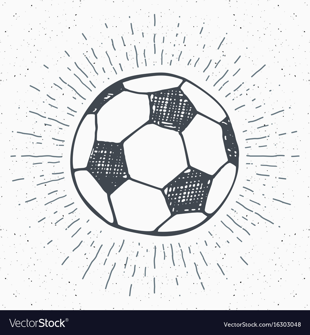 Sketch football shadow vector images 43