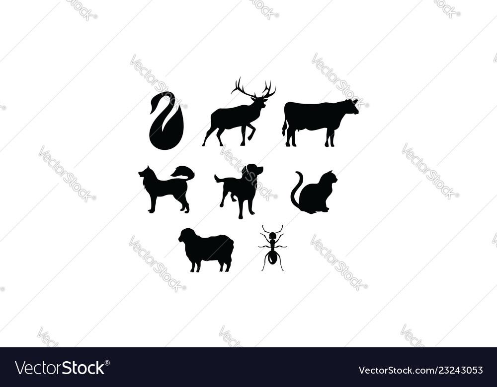 Animal silhouette logo icon