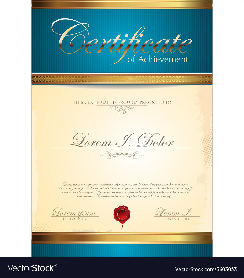 Blue and gold certificate template royalty free vector image blue and gold certificate template vector image yadclub Gallery