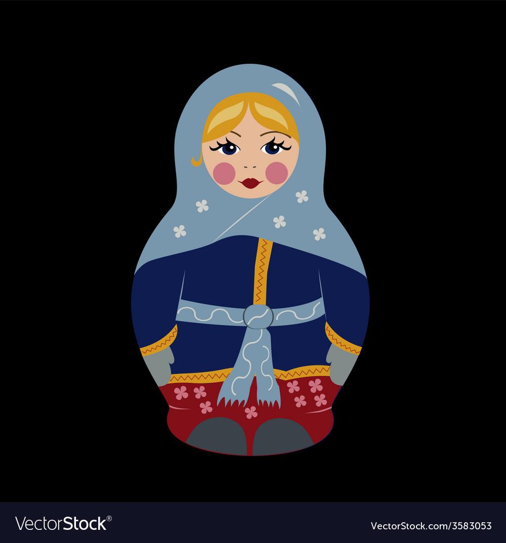 Bubushka doll in winter