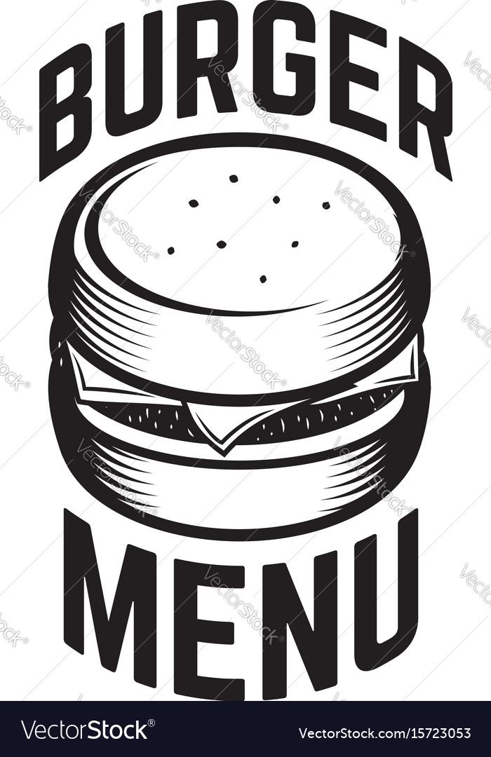 Burger emblem design element for logo label