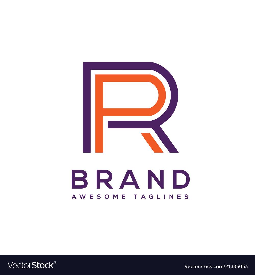Creative letter rr circle logo design elements