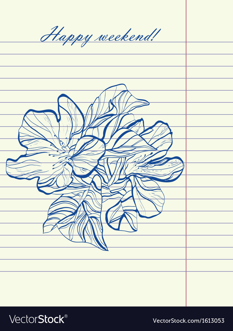 Hand drawing sketch flower