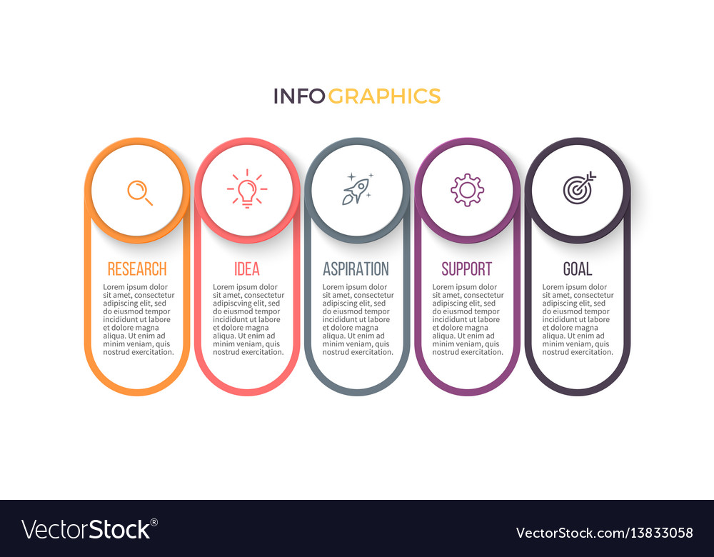 Business infographics presentation with 5