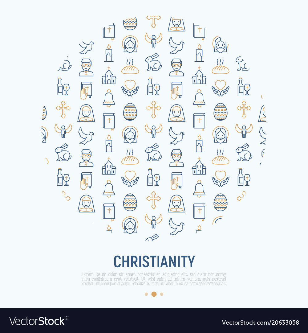 Christianity concept in circle