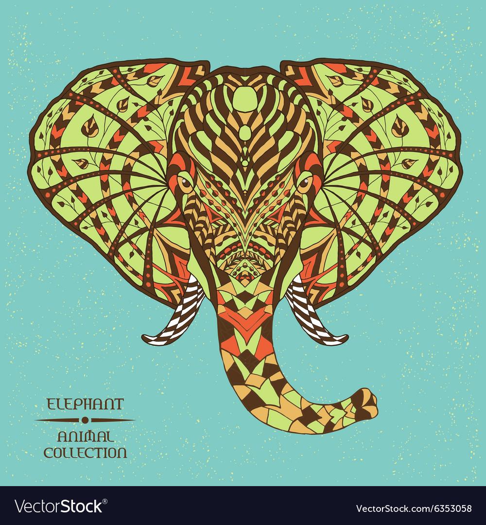Elephant Ethnic patterned
