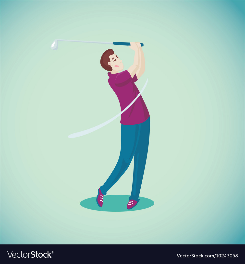 Golf player Isolated cartoon character Sport