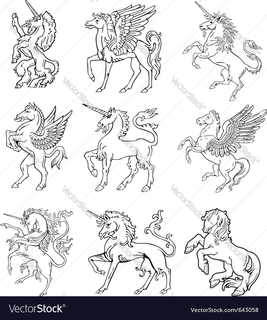 Heraldic unicorns