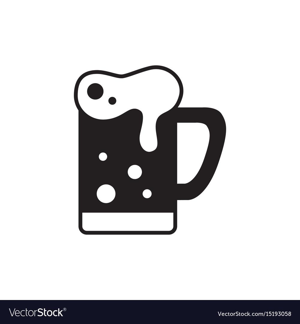 Mug of beer icon thin line for web and mobile