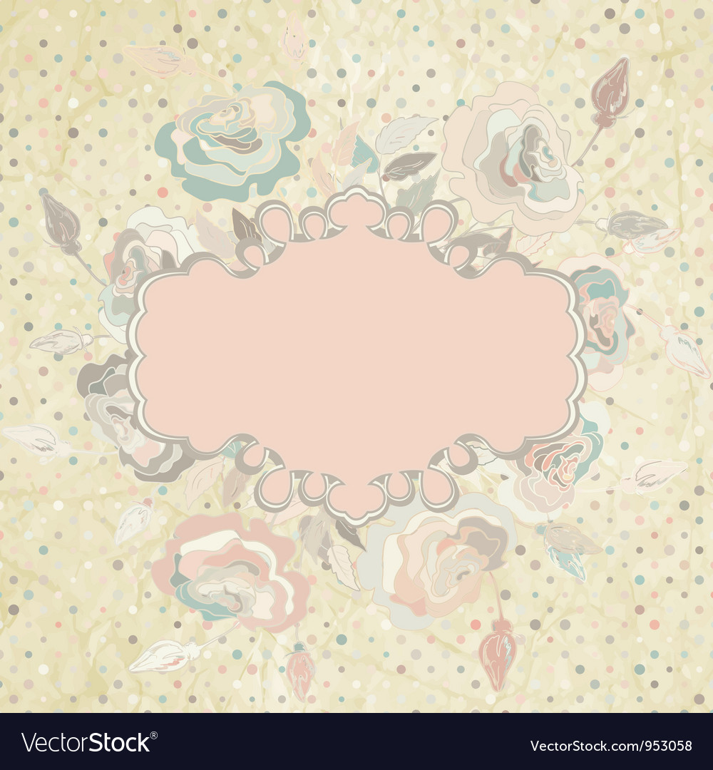 Pastel Floral Invitation Template Royalty Free Vector Image
