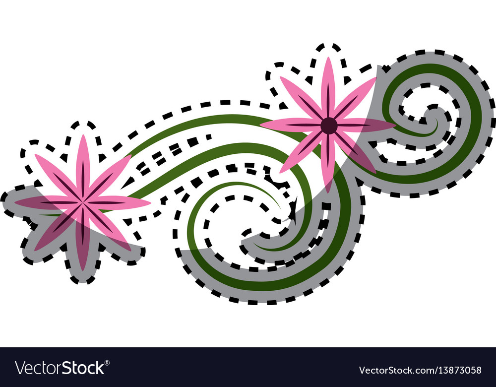 Pink flowers branches decoration