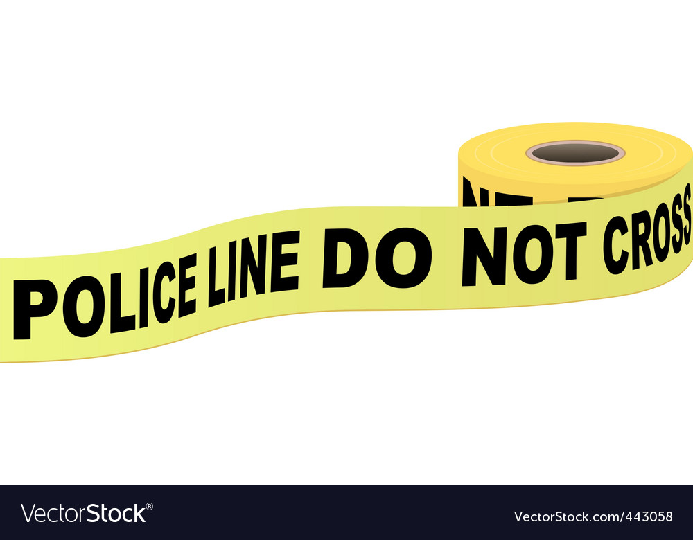 Police tape with text