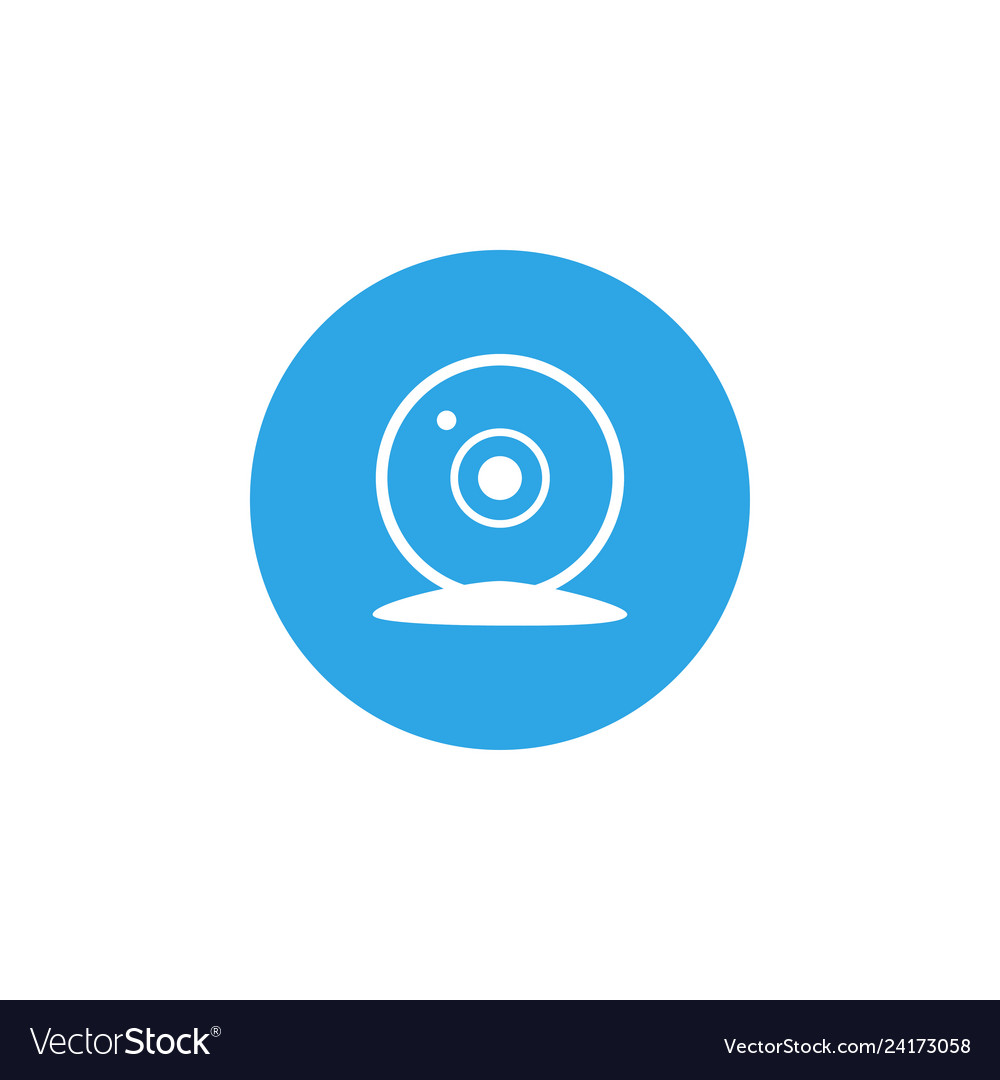 Webcam icon design template isolated