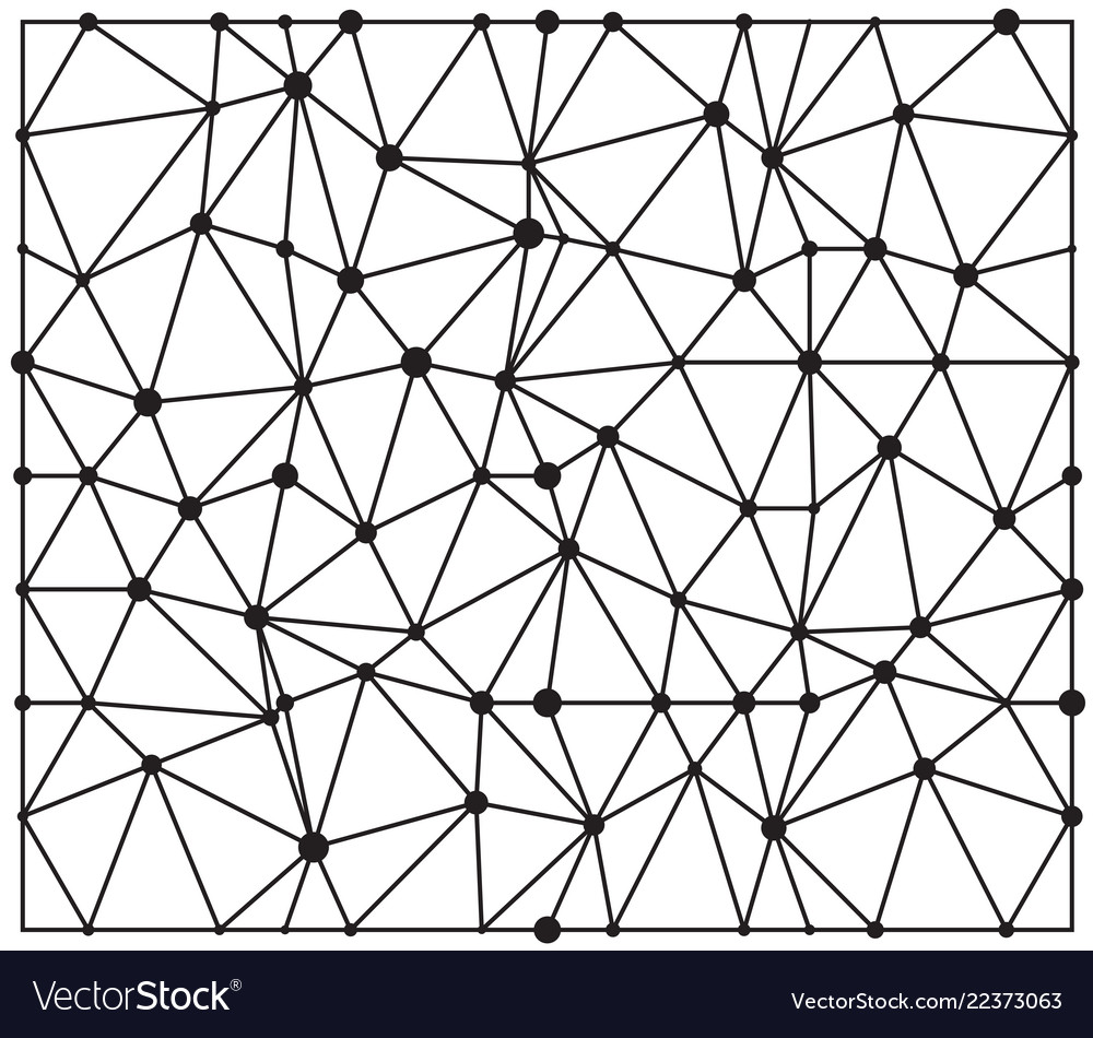 Abstract triangle with dots seamless pattern