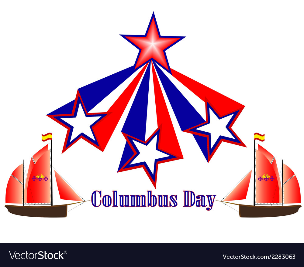Columbus Day in America vector image