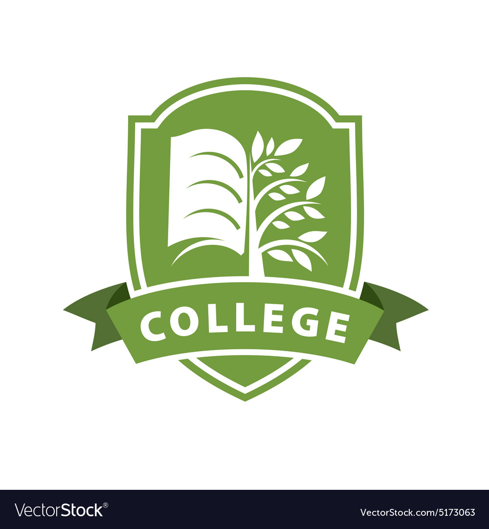 Logo tree and the book for college vector image