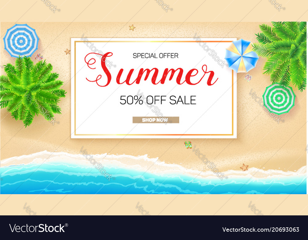 Poster of summer sale action get up to fifty