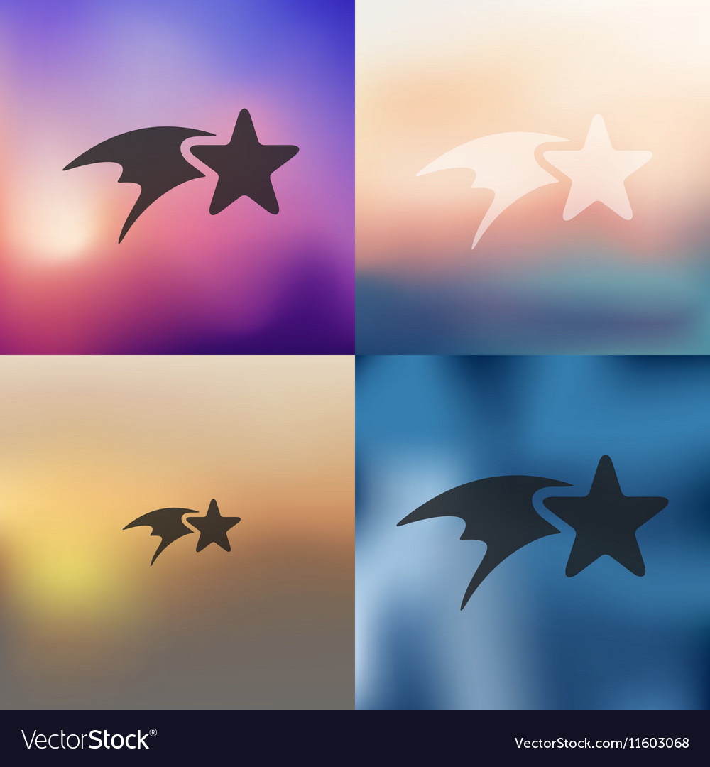 Christmas star icon on blurred background vector image