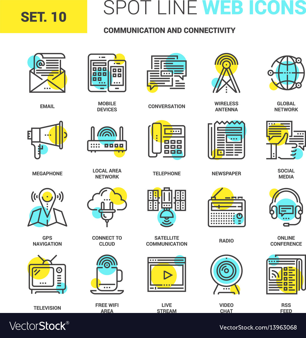 Communication and connectivity vector image