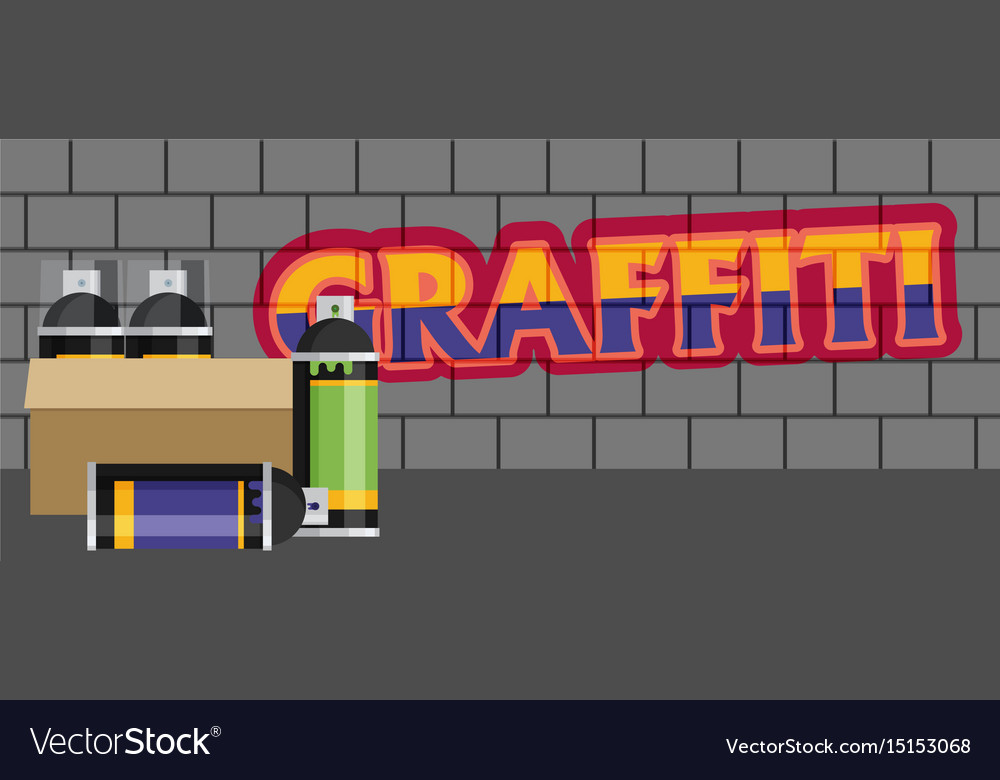 Creative graffiti flat style vector image